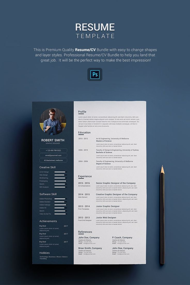 how to update resume%0A Robert Smith  Graphic Designer Resume Template