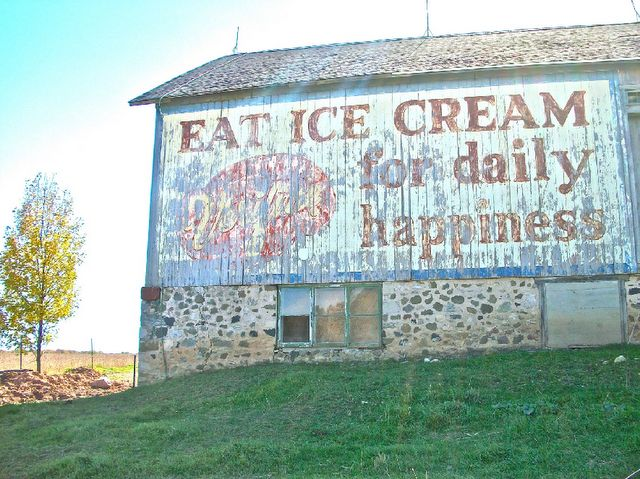 happiness is . . . .: Barns Art, Quotes, Eating Ice, Ice Cream, Old Signs, Messages, Icecream, Families Mottos, Old Barns