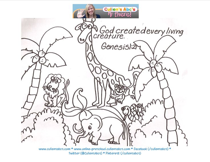 Story Of Creation Christian PreschoolBible Coloring PagesPreschool