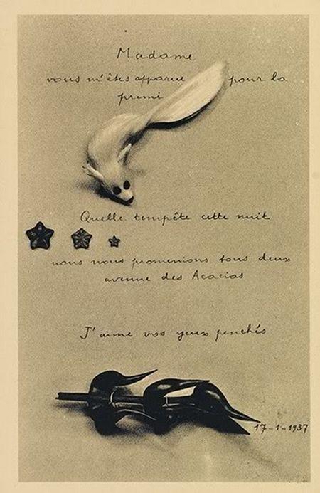 André Breton: La Carte Surrealiste Première Serie, 1937.