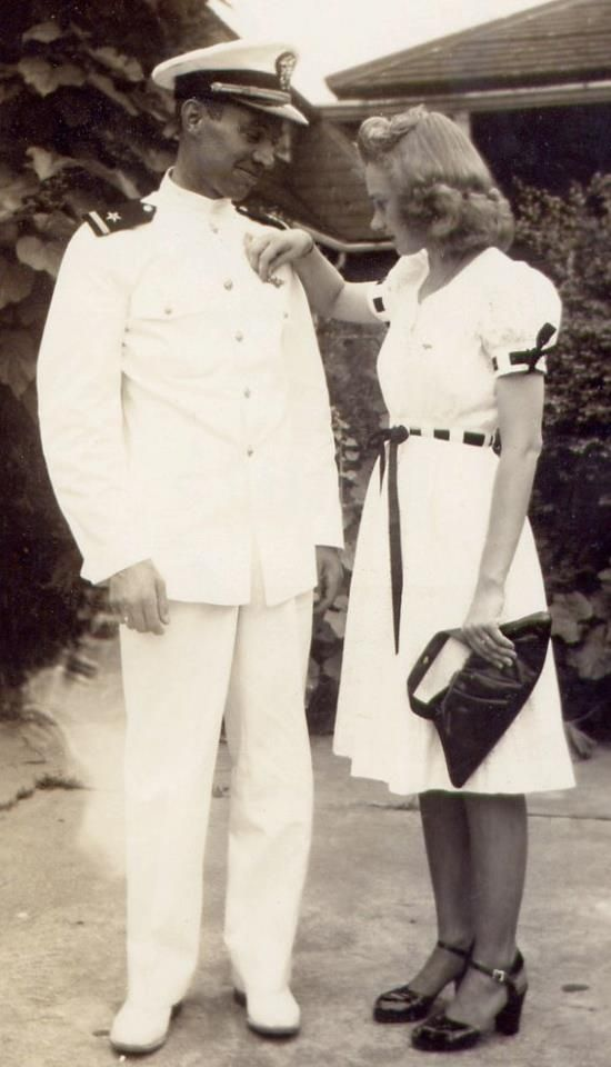 A sailor and his wife in the late 1940s