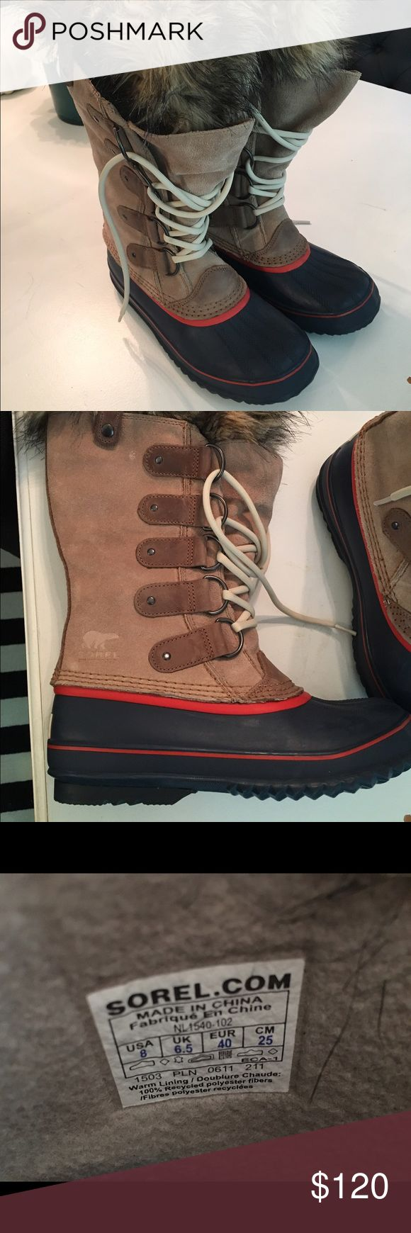 Sorel Joan of Arc Women's Boots Size 8 Perfect condition. Worn once. Retails $180. Size 8. Sorel Shoes Winter & Rain Boots