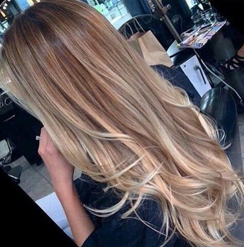 Long blonde balayage