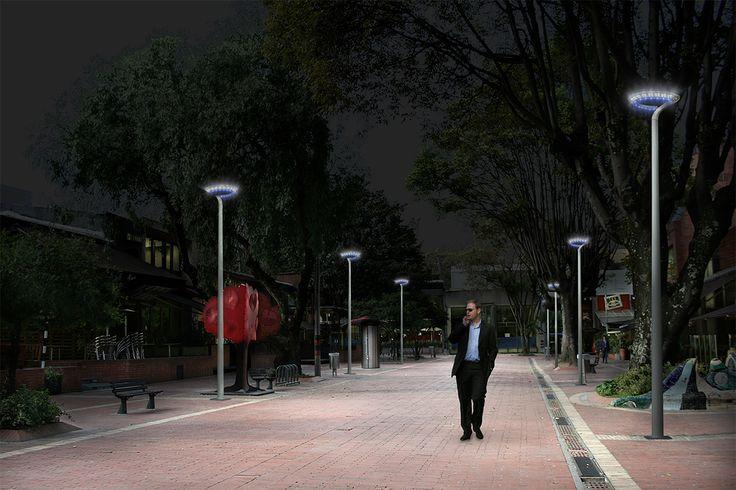 Zona T - Bogota - simulación con Perla de noche