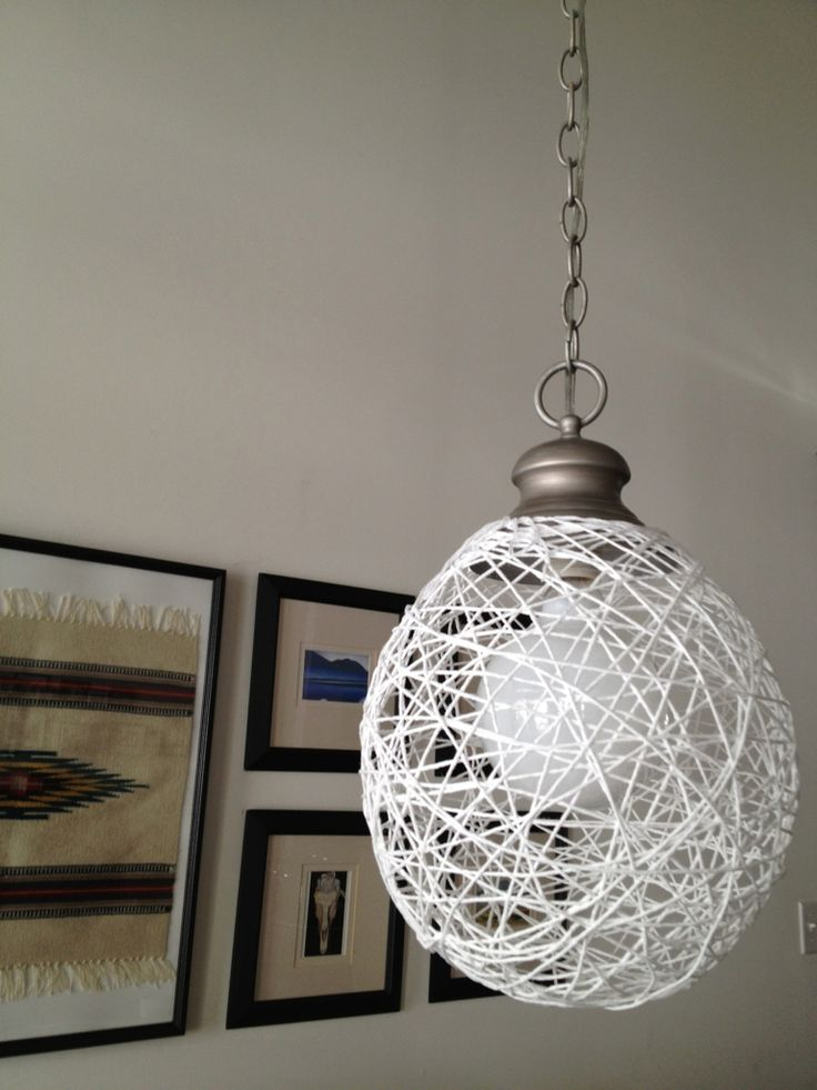 String Lights With Metal Shades : string lamp shade home decorating Pinterest