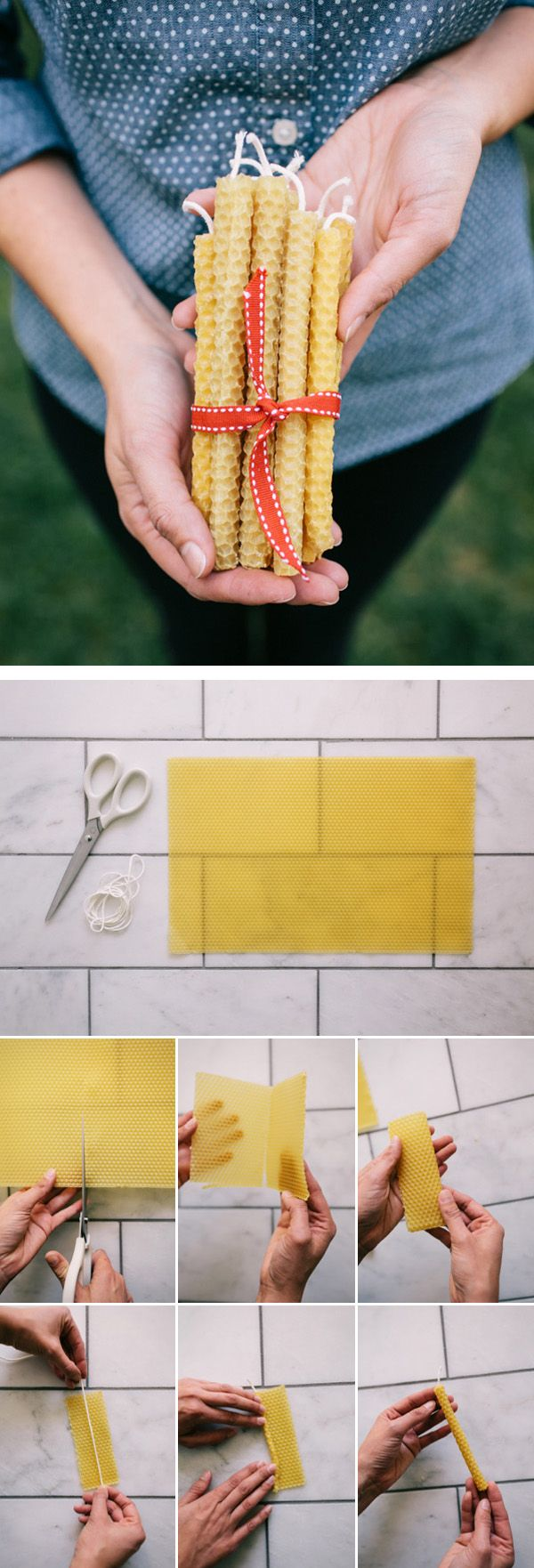 DIY Beeswax Candle - homemade mother's day gift
