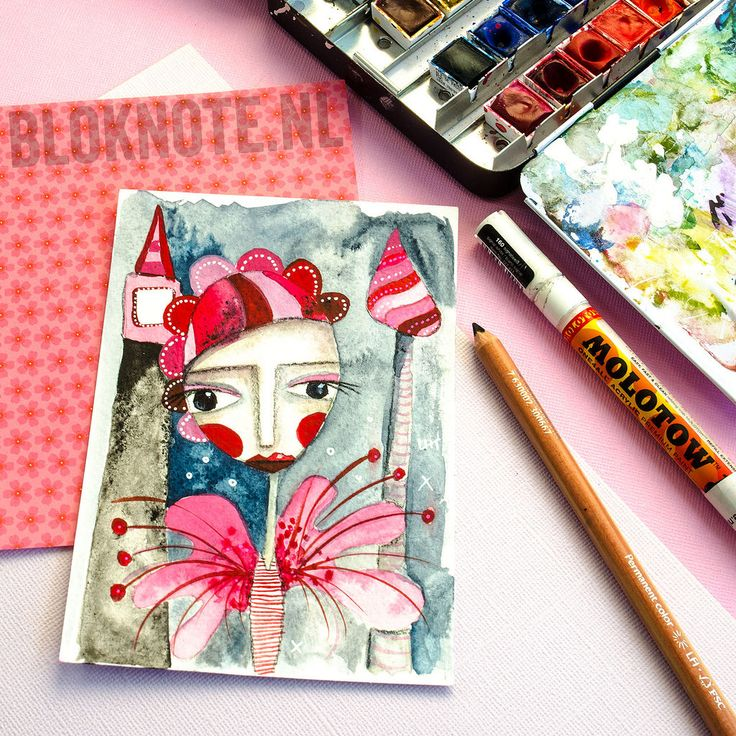 #mixedmediaart #artjournaling #drawing #drawinggirls #drawingdolls #russiandoll #colortrend #crafttrend #watercolour #watercolor #coloring #doodles #pinkandgray #pinks #grays #darkblue #indigoblue #red #acrylicmarker