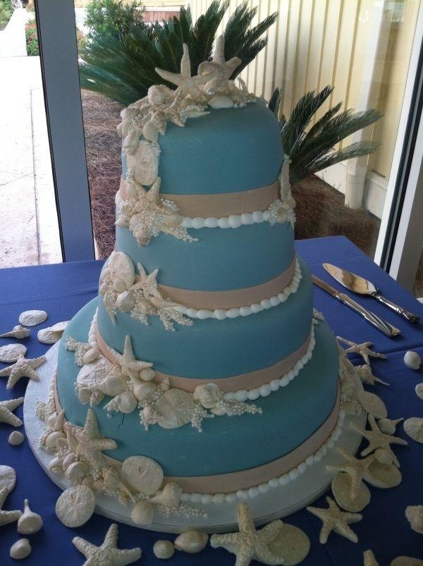 Beautiful beach themed cake.