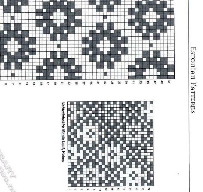 Estonian knitting charts