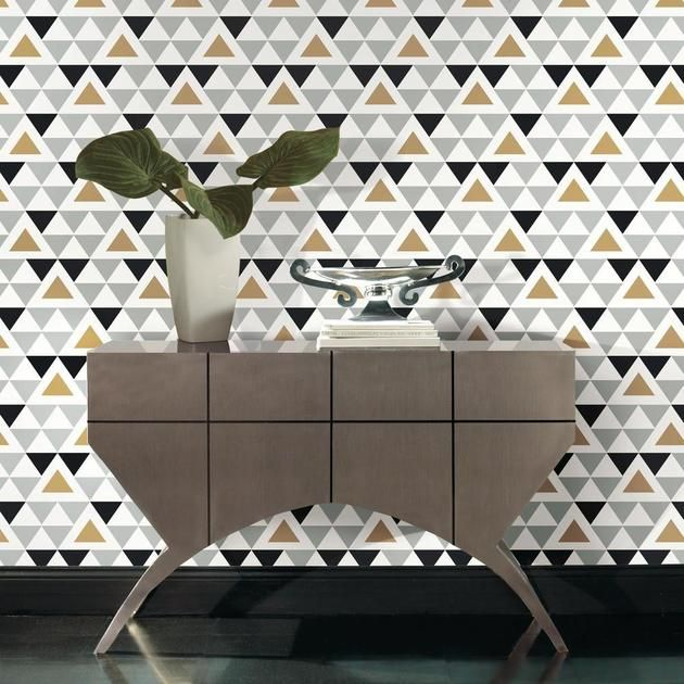 Geometric Triangle Peel And Stick Wallpaper In 2021 Peel And Stick Wallpaper Geometric Triangle Wallpaper Decorating Solutions