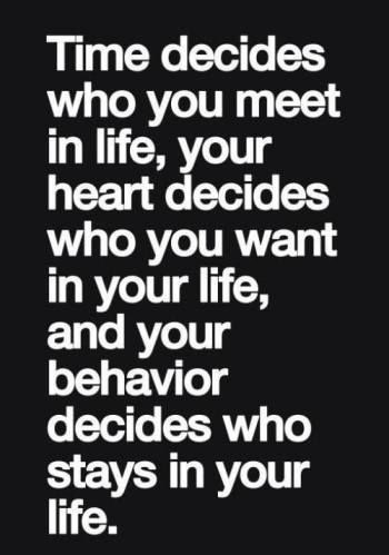 Life's decisions... Time, Heart, and Behavior