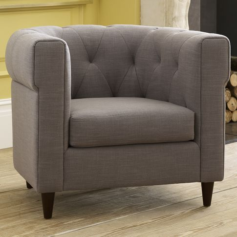 West Elm Chester Tufted Upholstered Chair