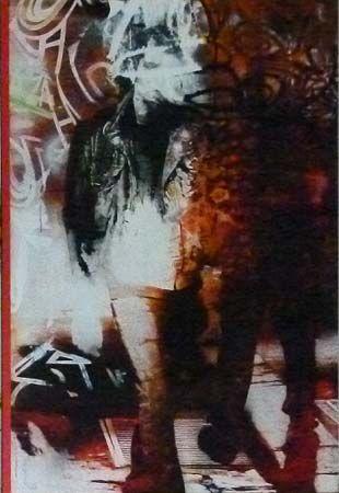 Robert Boynes, 'Sierra Street' 2012, acrylic on canvas, painted timber, 120 x 82.5cm