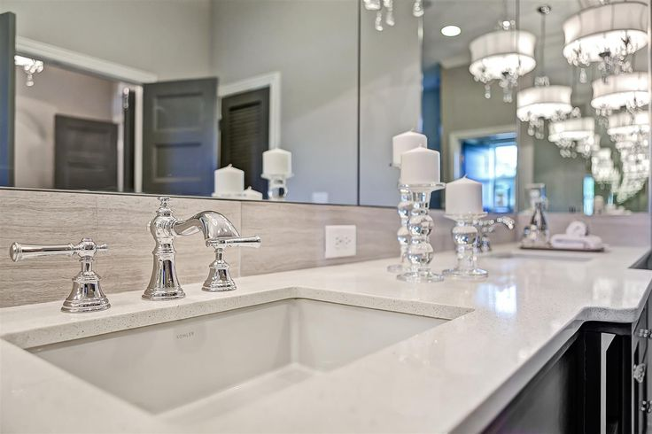 Vanity Lights With Crystal Accents : Quartz master vanity with chrome plumbing and lighting with crystal accents. Bathroom Ideas ...