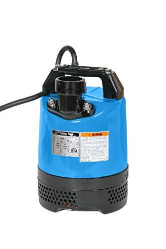 "Tsurumi LB-480-62 Light, Compact Submersible Dewatering Pump, 2"", 2/3 HP"