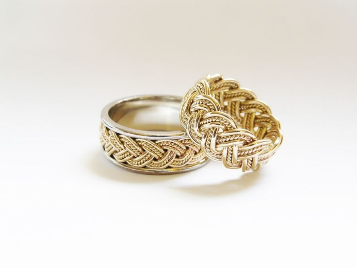 Spectacular gold irish wedding bands in silver udperfect