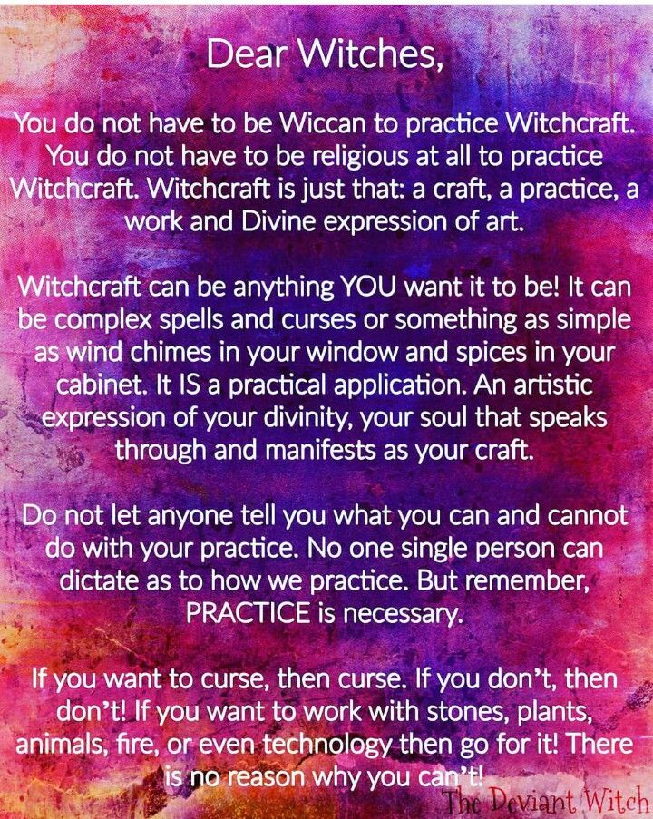 Yep. Witchcraft is inherently secular -a craft, like wood working, knitting, or painting. The only difference is that its medium is spiritual forces.