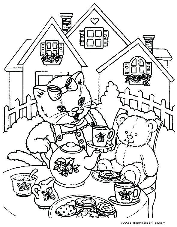 Tea Party Coloring Pages Tea Party Coloring Pages Best Tea