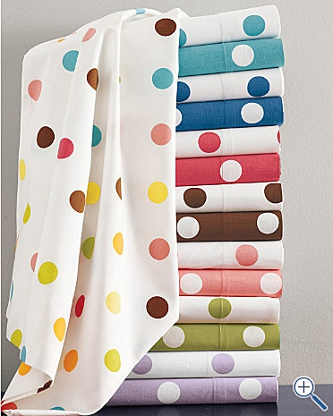 Love polka dots for crib sheets.  These are pretty affordable too!