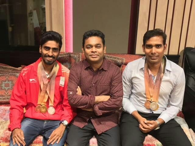 Arrahman Heartiest Congratulations To Sathiyangnanasekaran And Achantasharathkamal Fo Mother India Hearty Congratulations Commonwealth Games 2018