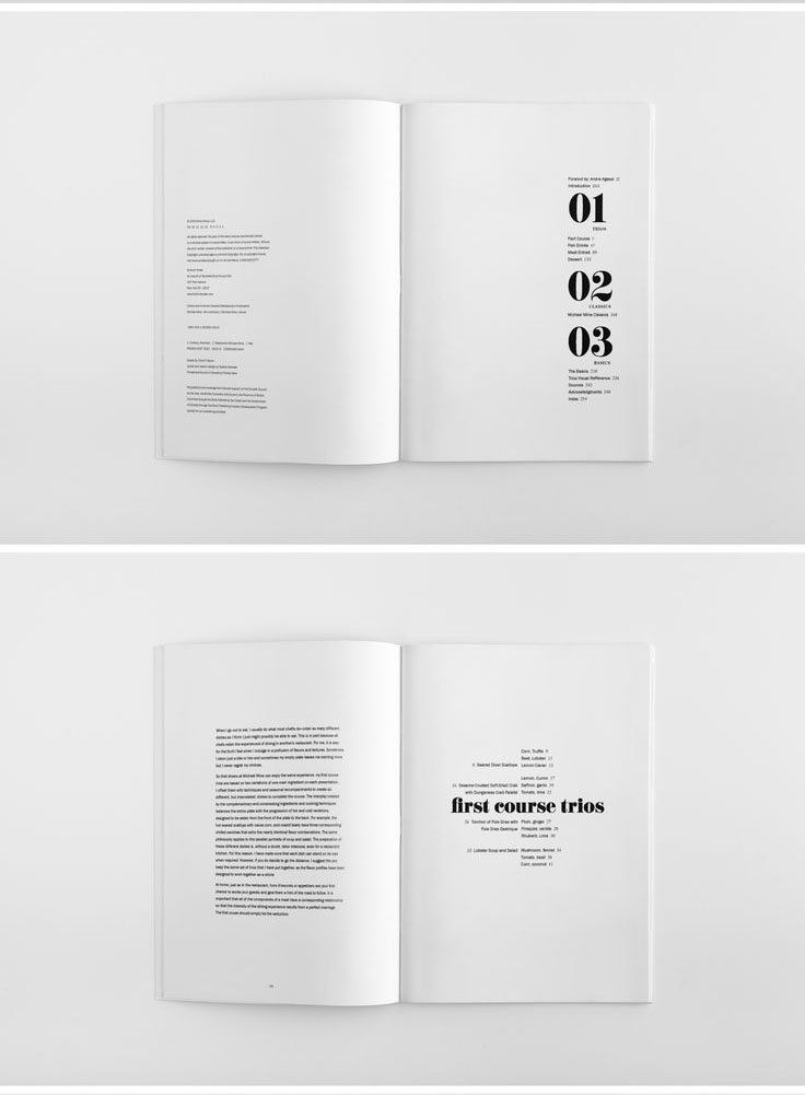 17 best images about table of contents on pinterest for Minimalist book design