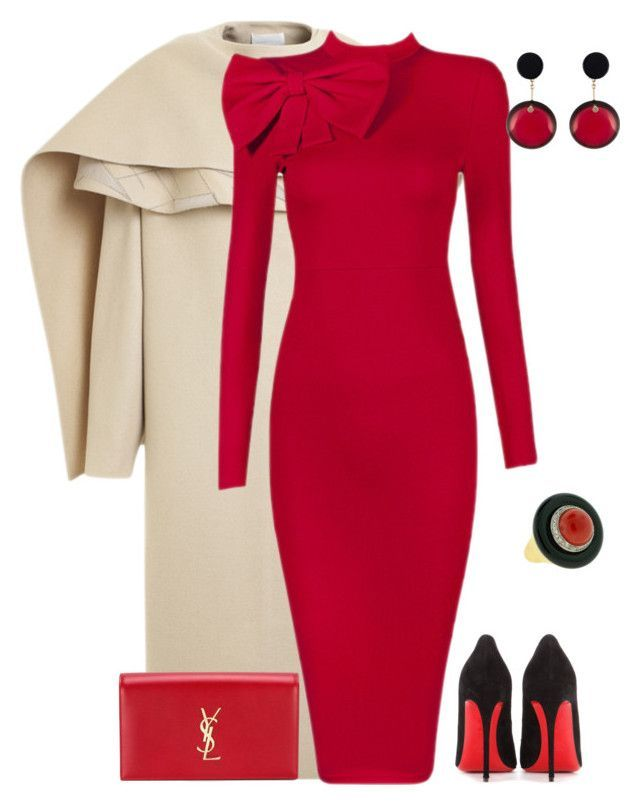 outfit 3163 by natalyag on Polyvore featuring мода, Posh Girl, PINGHE, Christian Louboutin, Yves Saint Laurent, Marni, womens clothing, womens fashion, women and female