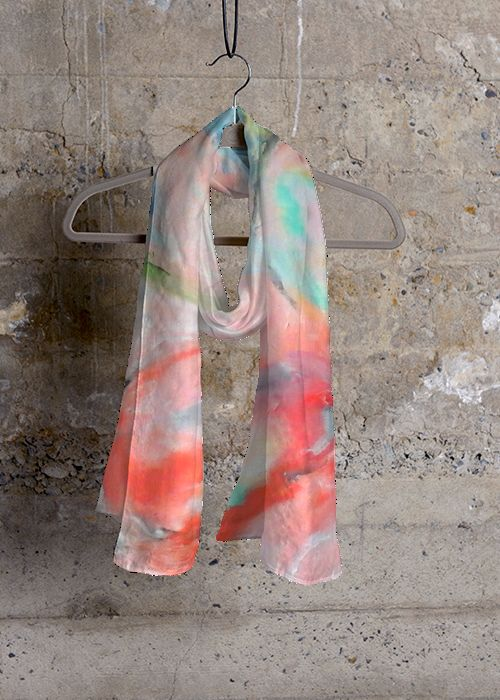 Cashmere Silk Scarf - Silken Beauty I by VIDA VIDA