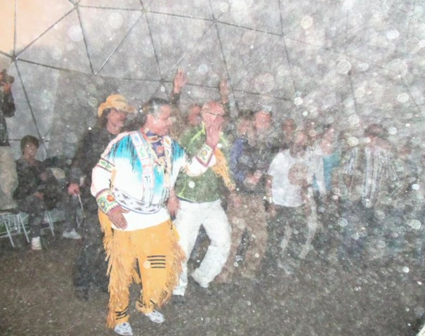 Photograph taken at a Pow Wow. Amazing orbs!