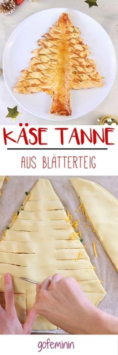 Blätterteig-Käse Tanne