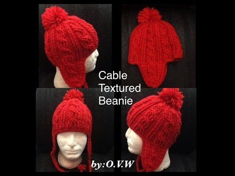 Cable Texture Beanie Part 1 - YouTube