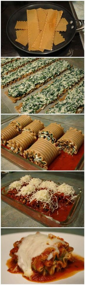 Top Food Center: Skinny Lasagna Rolls.-Super easy to make! I used Classico Parmesan Romano sauce and it felt like some spices were missing, so I will try a different sauce next time!