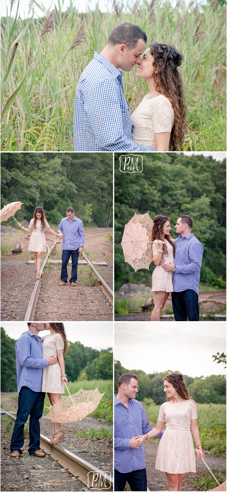 train tracks vintage engagement photos | Photography and More CT
