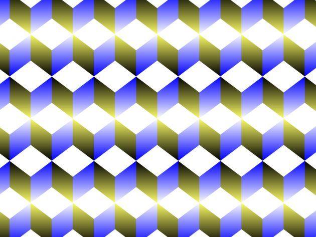оптические иллюзии: кубики
