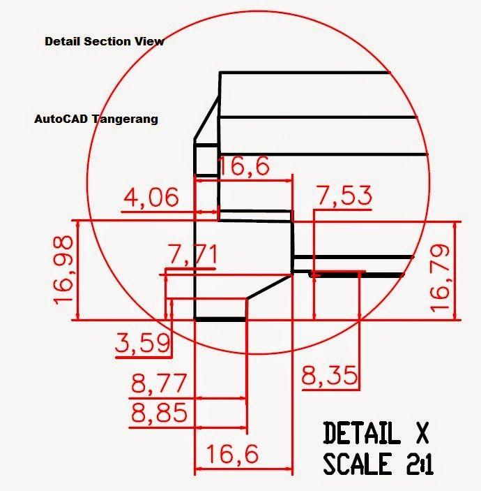 Membuat Detail View Menggunakan AutoCAD.