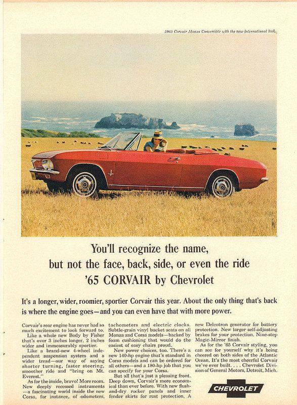 1965 chevrolet corvair advertisement newsweek november 30 1964