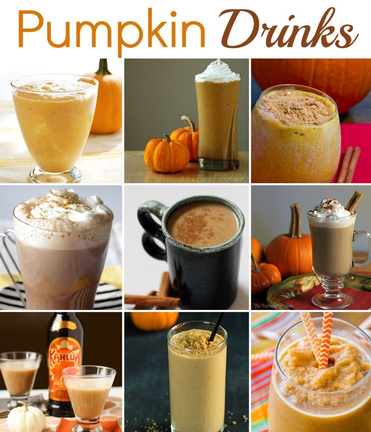 There are 9 Pumpkin Drinks on this list, along with some other pumpkin recipes. If you want to pumpkin it up at your next party, then check these out!