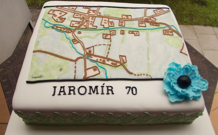 Cake with map - dort pro kartografa