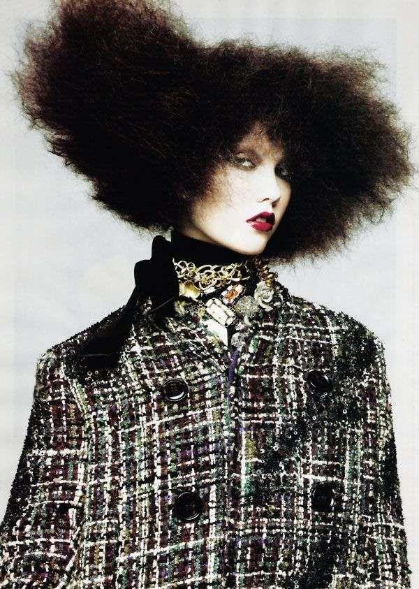 Karlie Kloss Wears Super-Sized Hair for September Vogue #hairstyles trendhunter.com