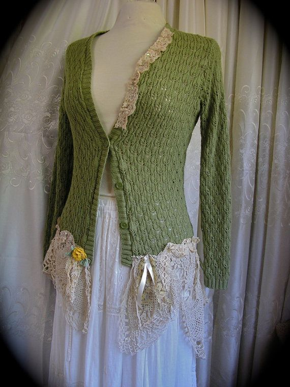 Hey, I found this really awesome Etsy listing at http://www.etsy.com/listing/126710820/dainty-doily-sweater-olive-with-delicate