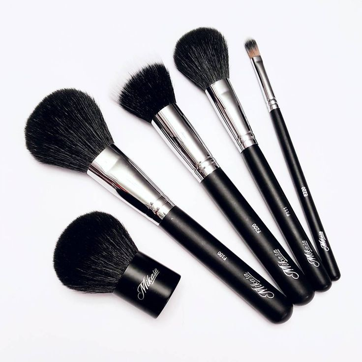 Get the right brushes to create that flawless canvas! #mikasabeauty face brushes are available at mikasabeauty.com