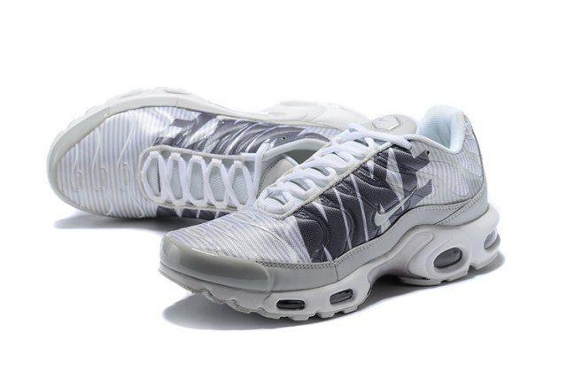 Original Nike Air Max Plus Tn Striped Pure Platinum Dark Grey White Wolf Grey At0040 003 Sneakers Men S Running Shoes Nike Air Max Nike Air Max Plus Running Shoes For Men