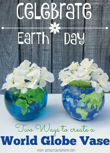 A Glimpse Inside: Two Ways to Create a World Globe Vase for Earth Day