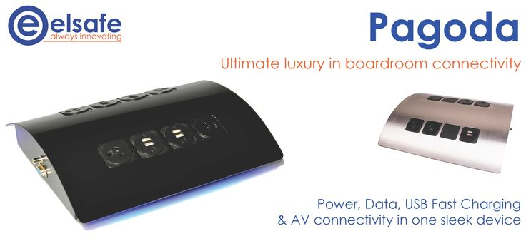 Pagoda - the ultimate luxury in boardroom connectivity! http://elsafe.com.au/products/power-and-data/desk-top/pagoda.html