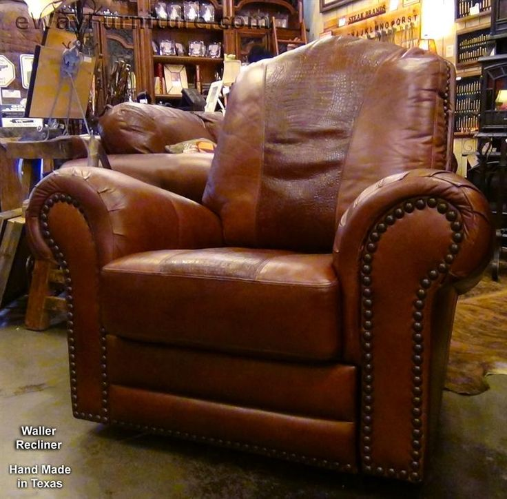 Hunter Red Brown/Red Brown Croc Waller Glider Swivel Recliner-ULWALRREDBROWN