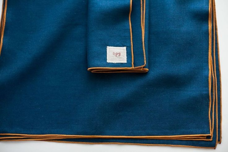 """17""""x17"""".  100% linen. napkins are designed by non-perishable goods and sewn by spooltown."""