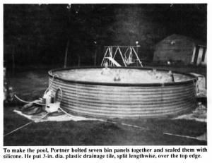17 best images about repurposed grain bins on pinterest view source pool houses and fire pits for How to build a grain bin swimming pool