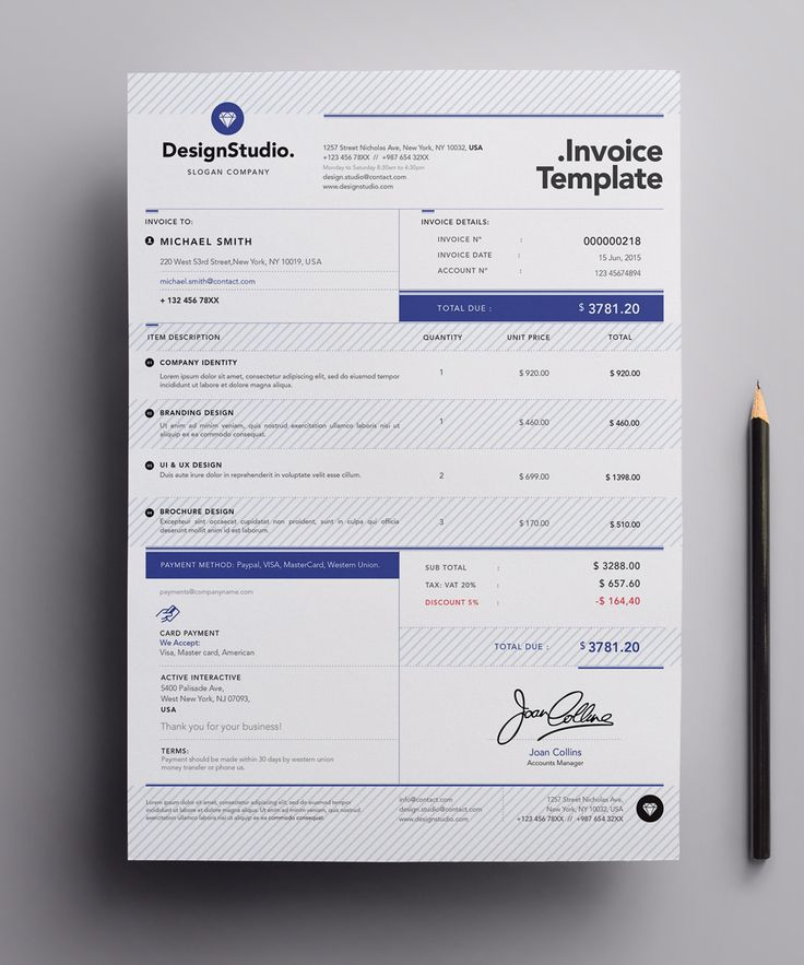 25 best ideas about Invoice Template – Professional Invoice Template
