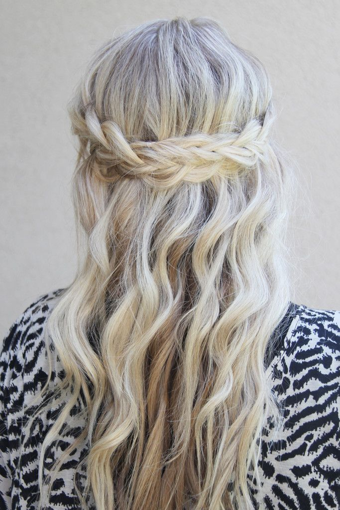 half up half down wedding hair with plait