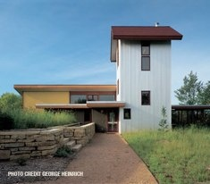AIA Homes by Architects 2012 #15 by SALA in Roberts, WI - very interesting.  corregated steel inside and ouside of the house - clerestory in living room - views to small reflecting pond from kitchen thru laundry room.