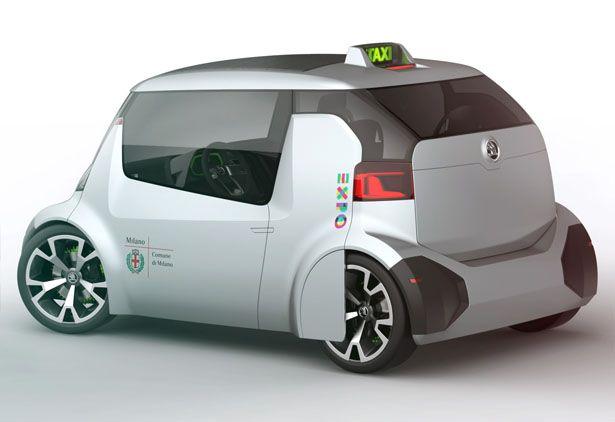 Skoda Ago EXPO Taxi Is A Green Microcar Concept Taxi for World EXPO 2015